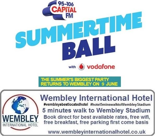 Summertime Ball Wembley Stadium 9 June 2018