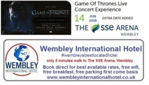 Game of Thrones SSE Arena, Wembley