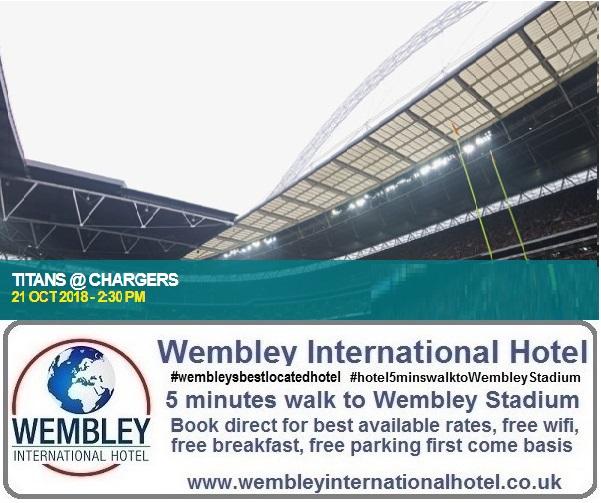 NFL Titans v Chargers Wembley 2018