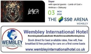 Slayer at The SSE Arena, Wembley