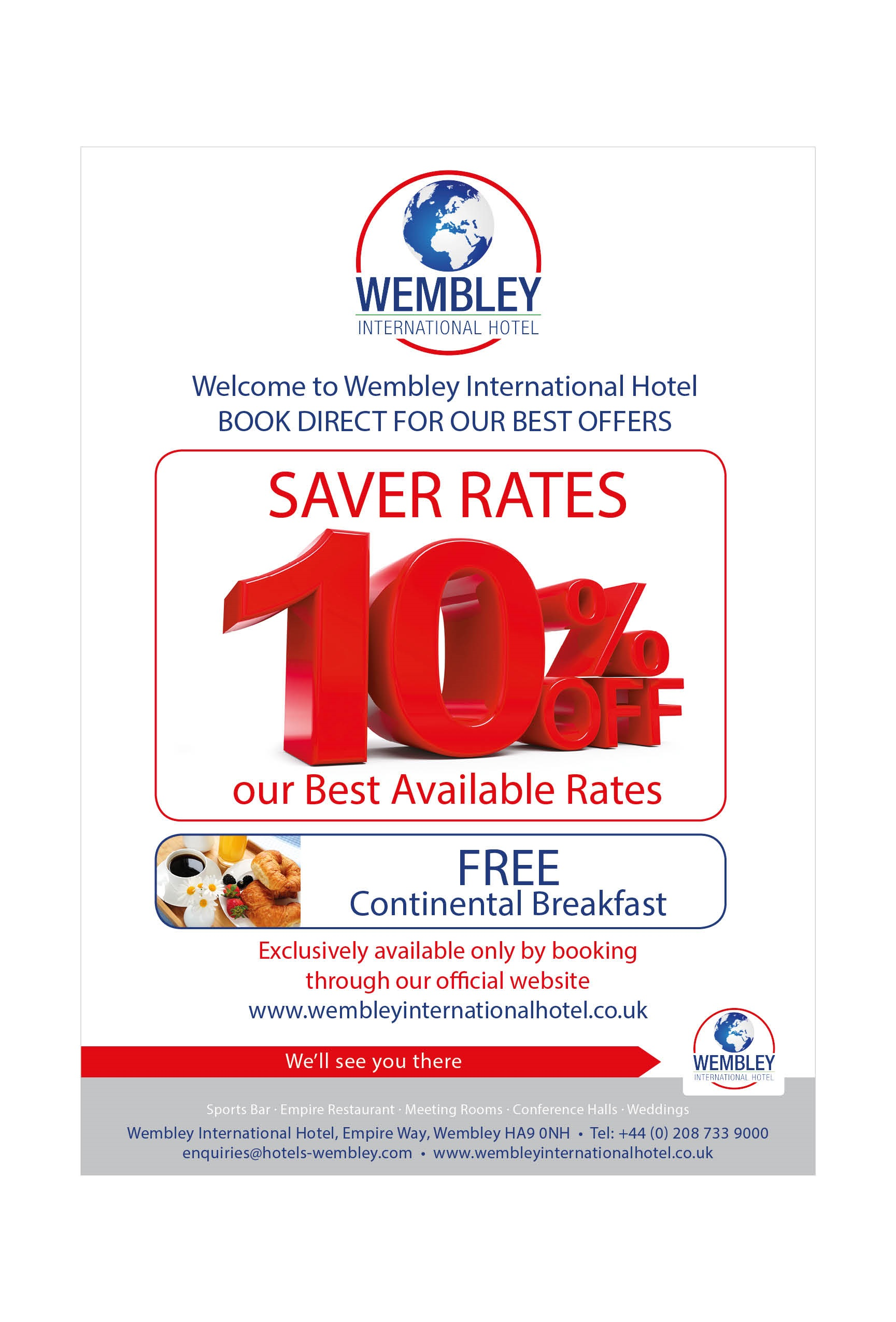 SAVER RATES at Wembley International Hotel