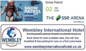 Snow Patrol Wembley Arena Feb 2019