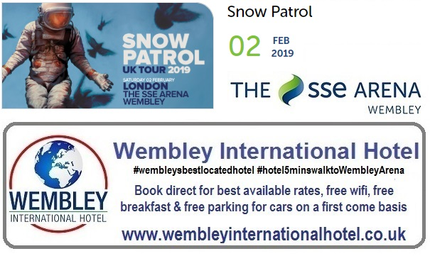 Snow Patrol Wembley Arena Feb 2019