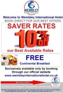 Saver Rates at Wembley International Hotel
