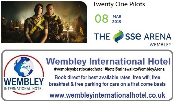 Twenty One Pilots additional Wembley concert March 2019