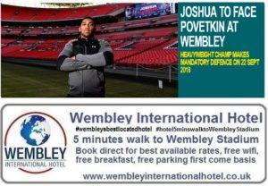 Joshua v Povetkin Wembley Stadium 22 Sep 2018