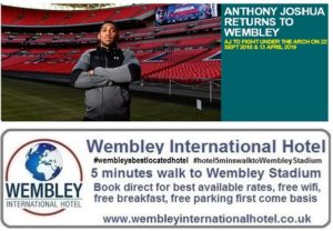 Anthony Joshua Wembley Stadium 2018-19