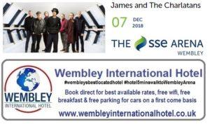 James and The Charlatans Wembley Arena Dec 2018