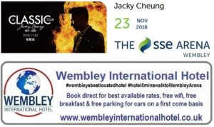 Jacky Cheung at The SSE Arena, Wembley 2018