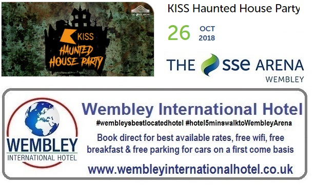 Kiss Haunted House Party Wembley Arena 26 Oct 2018