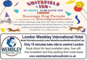 Smithfield London Sausage Dog Parade
