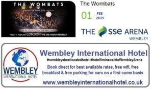 Wombats Wembley Arena Feb 2019