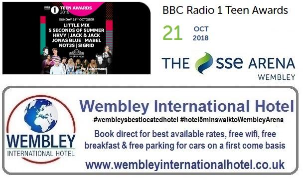BBC Radio 1 teen awards at The SSE Arena Wembley Oct 2018