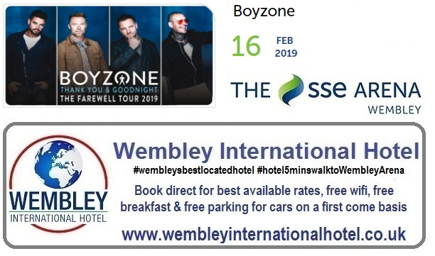 Boyzone The SSE Arena Wembley Feb 2019