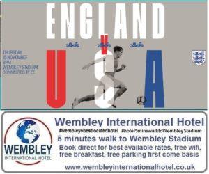 England v USA Wembley 2018