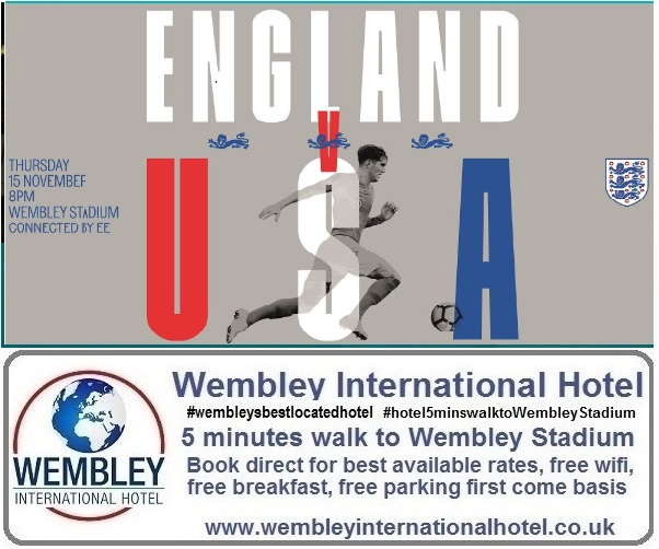 England v USA Wembley 2018