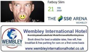 Fatboy Slim at The SSE Arena Wembley Feb 2019