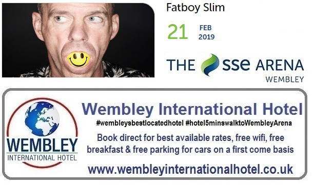Fatboy Slim at The SSE Arena Wembley Feb 2019