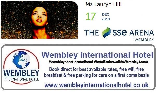 Lauryn Hill at The SSE Arena Wembley Dec 2018