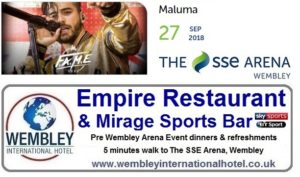 Pre Wembley Event meals and refreshments