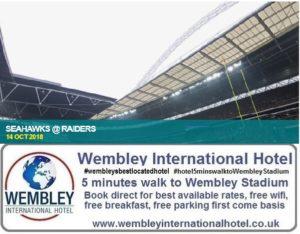 Seahawks v Raiders Wembley 2018