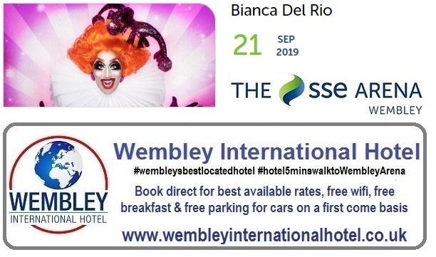 Bianca del Rio at The SSE Arena Wembley 2019