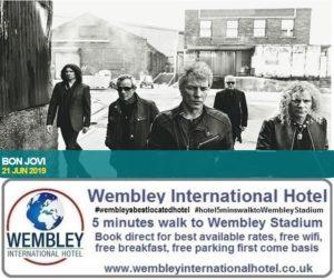 Bon Jovi Wembley Stadium June 2019