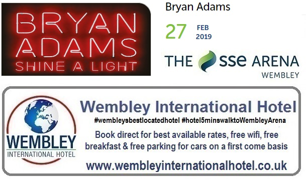 Bryan Adams Wembley Feb 2019