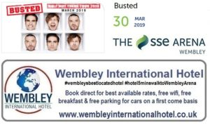 Busted at The SSE Arena Wembley 2019