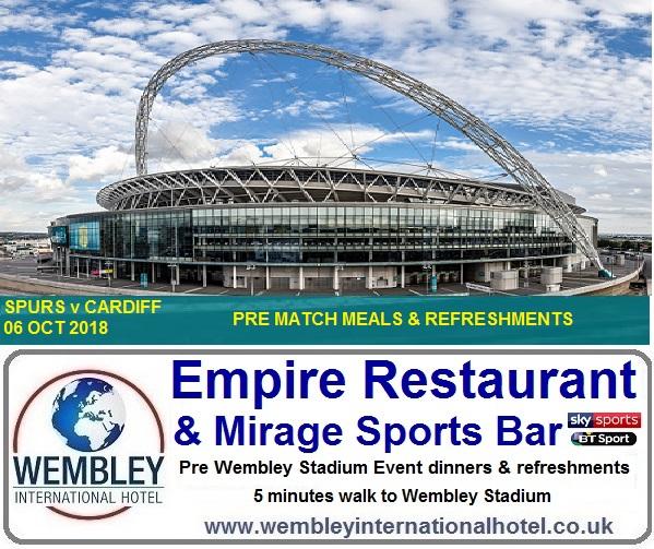 Wembley Restaurant 5 mins walk to Stadium