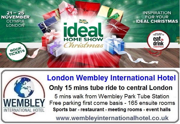 Ideal Home Show Christmas Nov 2018