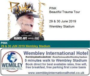 Pink Wembley Stadium June 2019