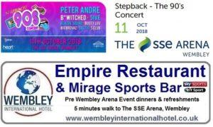 Stepback the 90's concert Wembley Arena
