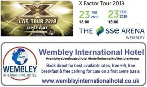 X Factor Live at The SSE Arena Wembley Feb 2019