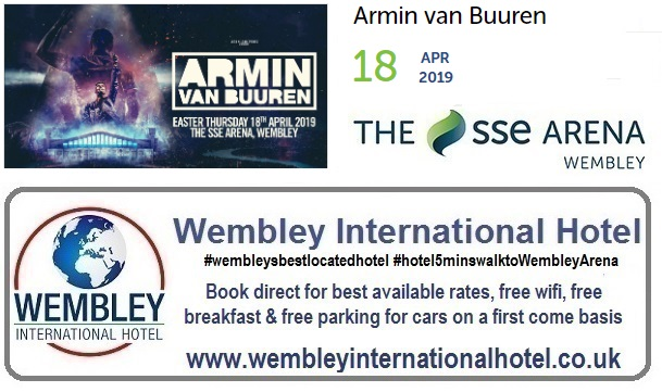 Armin van Buuren at The SSE Arena, Wembley April 2019