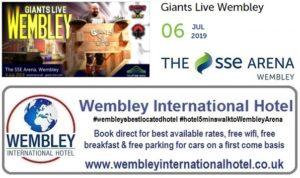 Giants Wembley Arena 2019