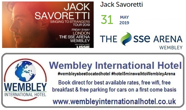 Jack Savoretti Wembley Arena May 2019