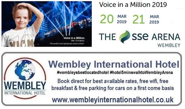 Wembley Arena Voice In a Million 2019