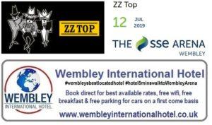 ZZ Top Wembley Arena July 2019
