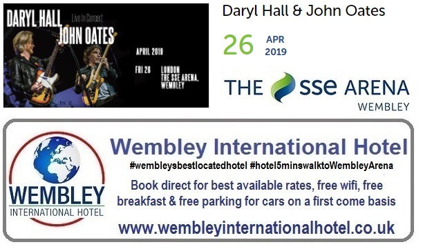 Hall and Oates Wembley Arena 2019