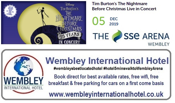Tim Burton's Nightmare at Christmas Wembley 2019