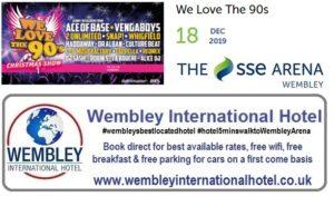 We Love The 90's Wembley Dec 2019
