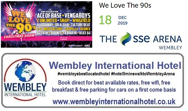 We Love The 90's Wembley Dec 2019