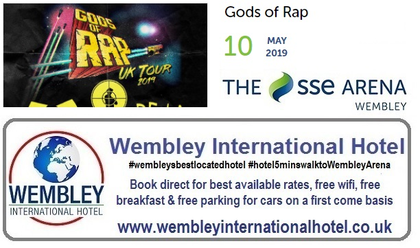 Gods of Rap Wembley Arena May 2019