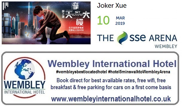 Joker Xue at The SSE Arena, Wembley 10 March 19