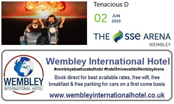Tenacious D at The SSE Arena Wembley 2019