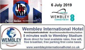 The Who Wembley Stadium July 2019