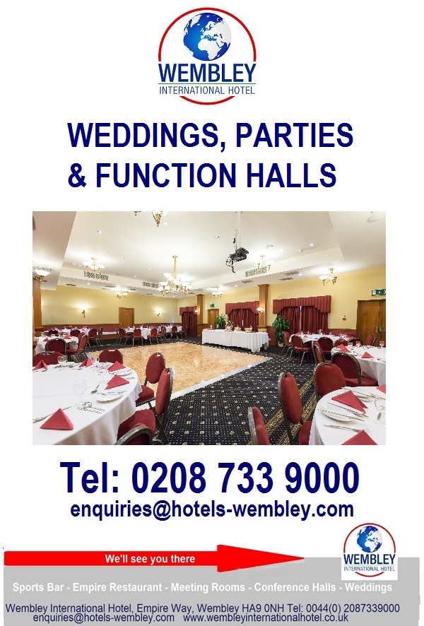 Functions and Weddings halls Wembley