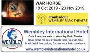 War Horse Troubadour Wembley Theatre Oct - Nov 2019
