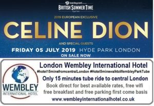 Celine Dion Hyde Park 2019
